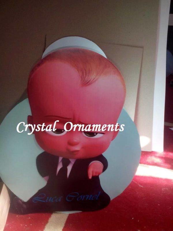 Cutie De Dar Botez Tematica Baby Boss Crystal Ornaments