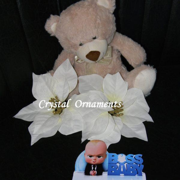 Invitatie Botez Tematica Baby Boss Crystal Ornaments